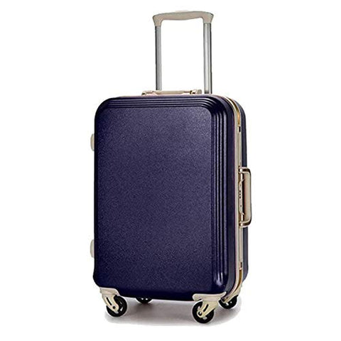 Seller-Wu 20/22/24/26/28Inch Rolling Luggage Lightweight Travel Suitcase On Wheels,Navy Blue Frame,24