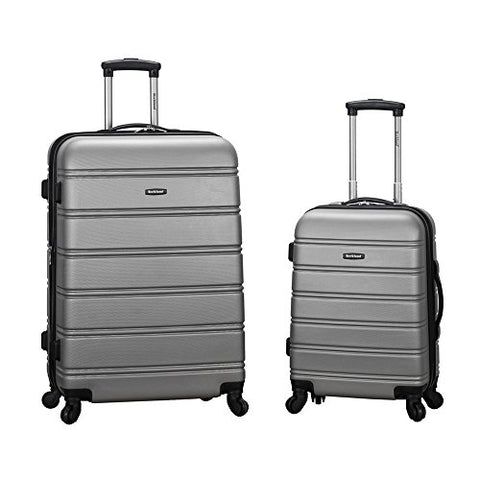 Rockland Luggage 20 Inch And 28 Inch 2 Piece Expandable Spinner Set, Silver