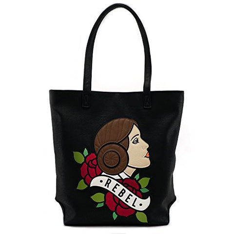 Loungefly x Star Wars Princess Leia Rebel Tattoo Flash Tote Bag