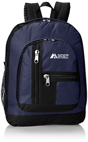 Everest Double Main Compartment Backpack, Navy, One Size