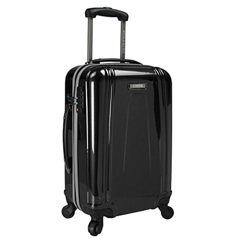 U.S. Traveler 22 Inch Usb Port Ez-Charge Carry-On Spinner, Black