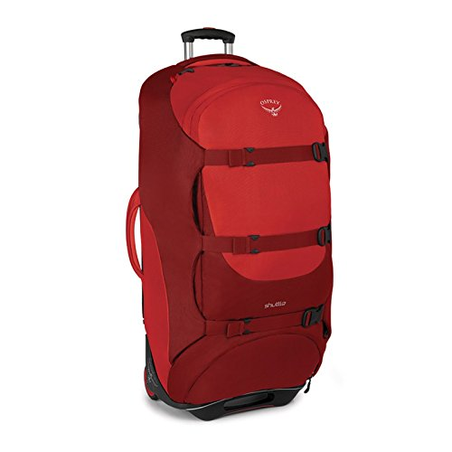 "Osprey Shuttle 36""/130 L Wheeled Luggage, Diablo Red"