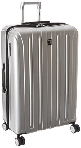 "DELSEY Paris Luggage Helium Titanium 29"" Exp. Spinner Trolley Hard Case Suitcase, Silver, One Size"
