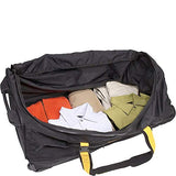 A.Saks Expandable 31in.Nylon Trolley Duffel in Black