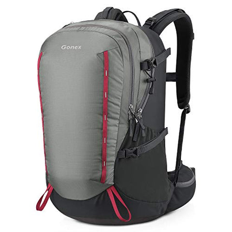 Gonex 40L Hiking Backpack, Wear-Resistant Daypack for Camping, Travel, Climbing, and Rain Cover