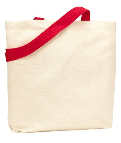 Zuzify Organic Recycled Cotton Canvas Tote Bag. Va0098 Os Red