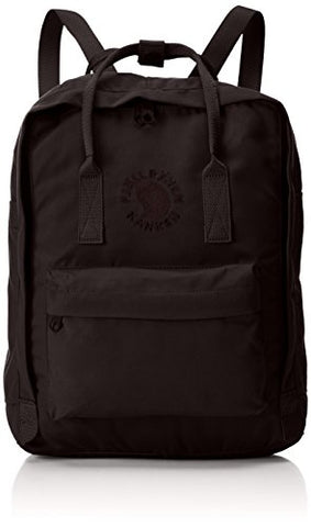 Fjallraven Men's Re-Kanken Backpack, Black, One Size