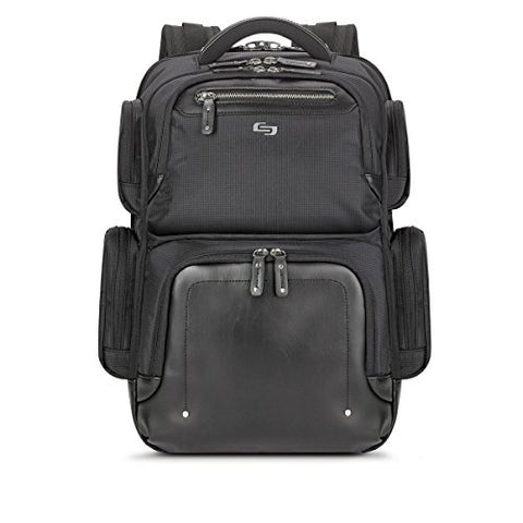 Solo Lexington 15.6 Inch Laptop Backpack, Black