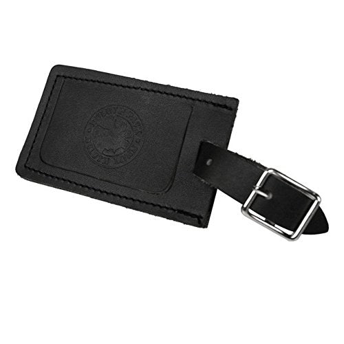 Duluth Pack Luggage Logo Tag (Black Leather)