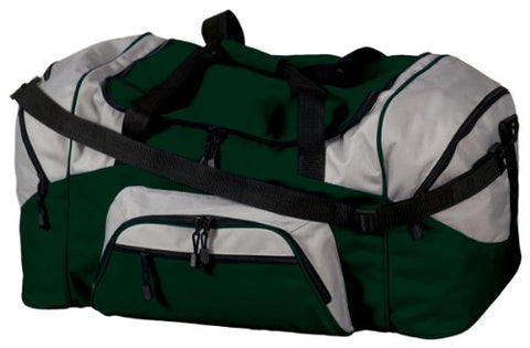Port & Company Bg99 Colorblock Sport Duffel - Hunter/Grey - Osfa