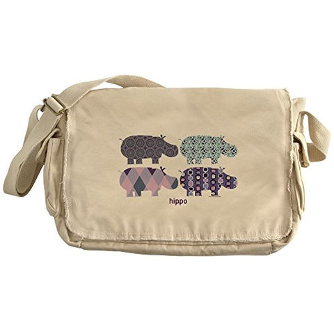 Cafepress - Hippo - Unique Messenger Bag, Canvas Courier Bag