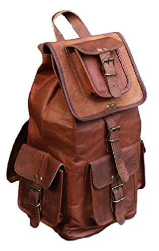20' Vintage Bag Leather Handmade Vintage Style Backpack/College Bag