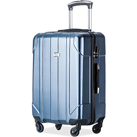 P.E.T Luggage Light Weight Spinner Suitcase 20inch 24inch and 28 inch Available (Blue, 24-Checking in)