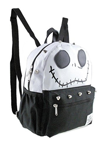 "Disney Nightmare Before Christmas Jack 12"" Silver Stud Small/ Mini Backpack"