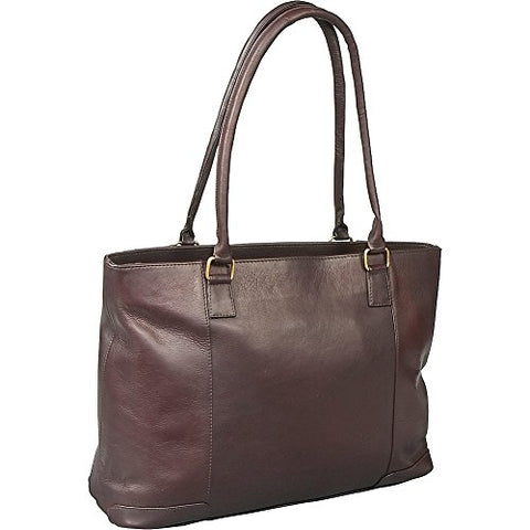 Le Donne Leather Women'S Laptop/Handbag Brief (Cafã©)