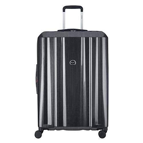 "Delsey Luggage Devan 29"" Checked Luggage, Hard Case Expandable Suitcase (Silver)"