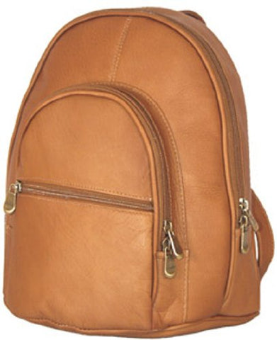 David King & Co. Double Compartment Backpack, Tan, One Size