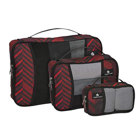 Eagle Creek Travel Gear Luggage Pack-it Cube Set (Red Stripe)