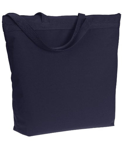 Ultraclub 8802 Zippered Tote Bag - Navy