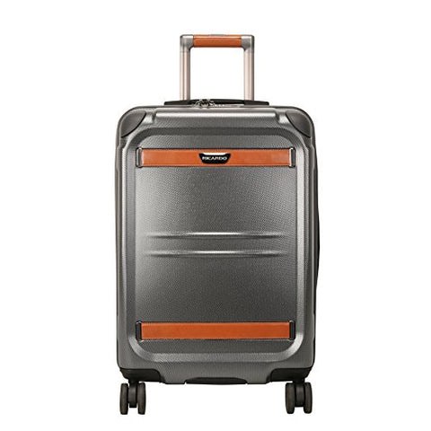 Ricardo Beverly Hills Ocean Drive 21-Inch Spinner Carry On Luggage, Silver