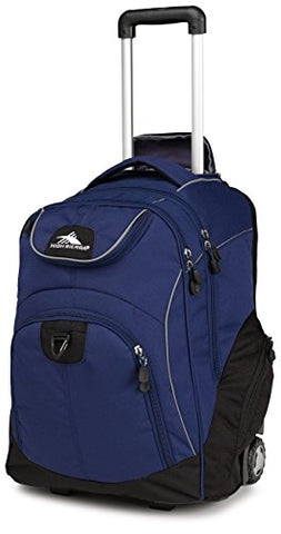 High Sierra Powerglide Wheeled Laptop Backpack, True Navy/Black