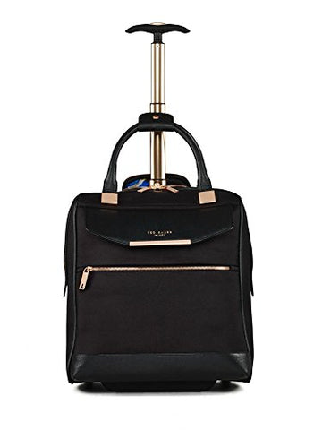 Ted Baker Womens Albany Softside Wheeled Business Case (One Size, Black)
