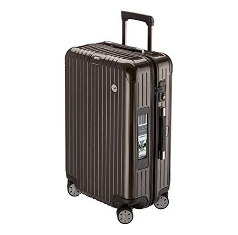 RIMOWA Lufthansa AirLight Premium Collection Multiwheel L Trolley with RIMOWA Electronic Tag, Anthracite Brown 62.5L