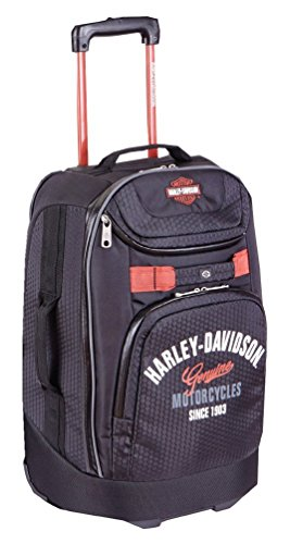 "Harley-Davidson 21"" Tail Of The Dragon Carry-On Wheeling Luggage, 99820 Black"