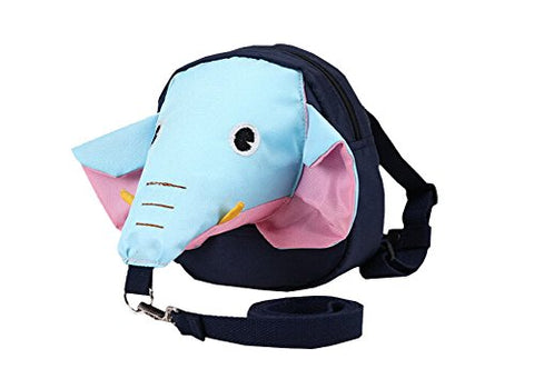 3D Unique Kids Backpack Anti-Lost Baby Bag Fashion Backpack [Elephant Blue]