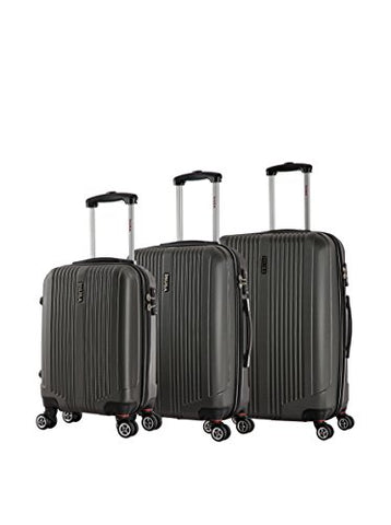 Inusa San Francisco 3-Piece Lightweight Hardside Spinner Luggage Set (Charcoal)