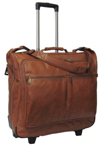 Amerileather Wheeled Leather Garment Bag (Brown)