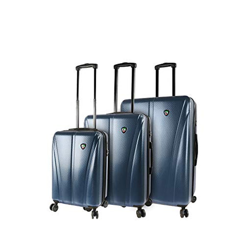 Mia Toro Italy Usini Hardside Spinner Luggage 3pc Set, Navy