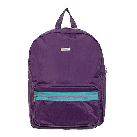 Baggallini Arches Backpack, Two pocket with Laptop Compartment Backpack, Purple