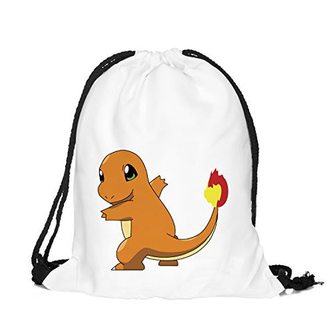 Olss-Original Shoulder Bag Pumping Rope Backpack Pokemon Go! Pattern Printed Bundle Mouth Single