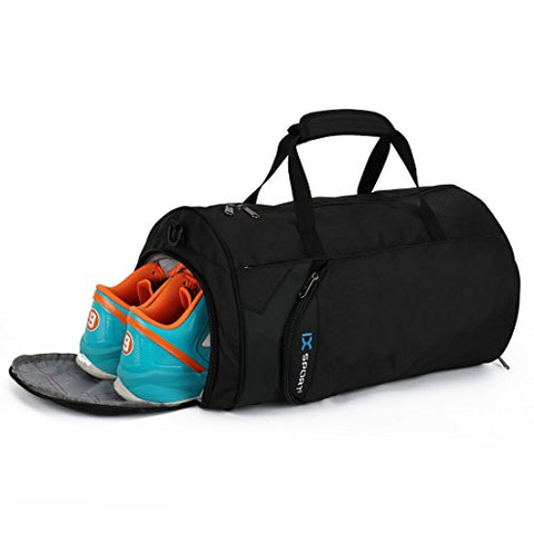 Inoxto Fitness Sport Small Gym Bag With Shoes Compartment Waterproof Travel Duffel Bag For Women