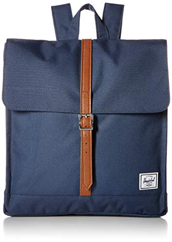 Herschel City Mid-Volume Backpack Navy/Tan Synthetic Leather One Size