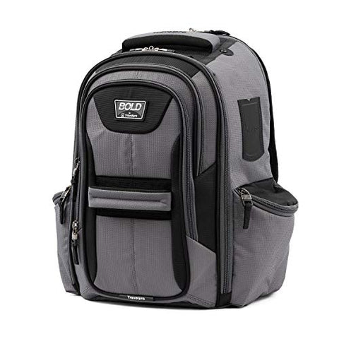 Travelpro Bold Computer Backpack With Laptop And Tablet Sleeves, Gray/Black