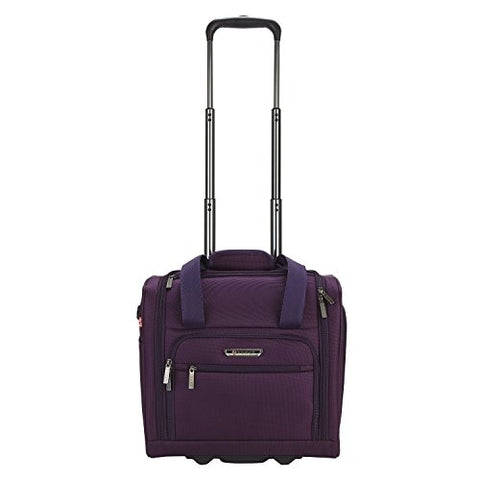 Travelers Polo & Racquet Club Rafael 15 Inch Softside Underseater With Usb Port, Purple