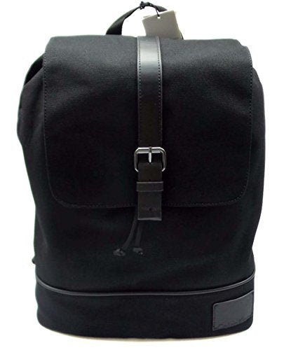 Calvin Klein CANVAS BACKPACK W/SMOOTH PU TRIM (Black)