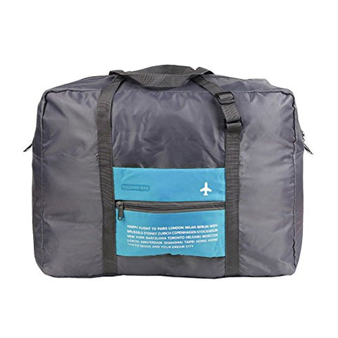Damara Large Capacity Tote Waterproof Folding Travel Bag Organisers,Blue