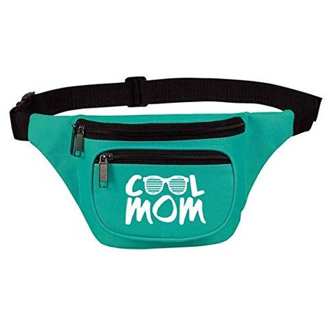 Cute, Funny Fanny Pack for Women - Cool Mom Teal Waist Belt Bag, Phanny Pack for Travel, Gym - Great Gift