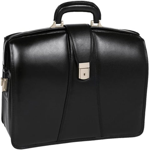 McKleinUSA Harrison 83385 V Series 17-Inch Partners Full Grain Oil Tanned Leather Laptop Brief (Black)