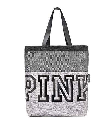 Victoria's Secret Pink MESH Tote Bag Limited Edition Fall, Marl Grey