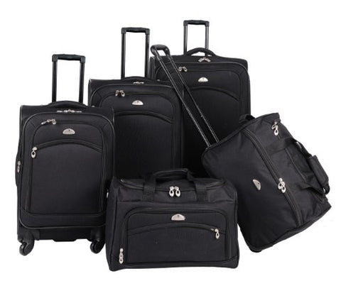 American Flyer Luggage South West Collection 5 Piece Spinner Set, Black, One Size