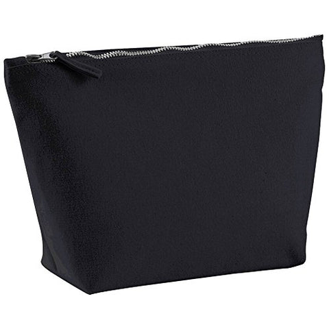 Westford Mill Canvas Accessory Bag - Black Or White / 3 Sizes Availa - Black - S