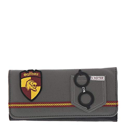 Loungefly x Harry Potter Gryffindor Trifold Wallet (Grey, One Size)
