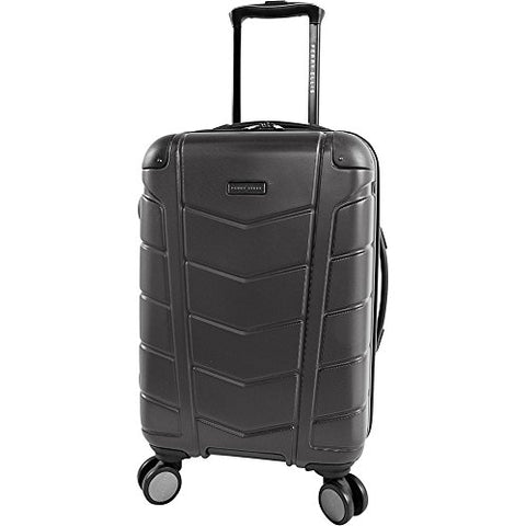 "Perry Ellis Tanner 21"" Hardside Carry-on Spinner Luggage, Charcoal"