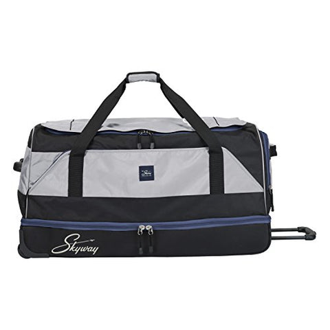Skyway Sodo 34-inch Drop-Bottom Rolling Duffel, Steel Gray