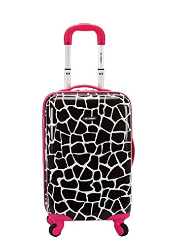 Rockland 20 Inch Carry On Skin, Pink Giraffe, One Size