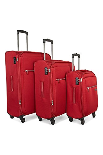 Antler Marcus 3 Piece Suitcase Set in Red